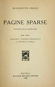 Cover of: Pagine sparse: raccolte da G. Castellano.