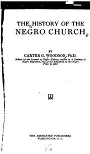 Cover of: The history of the Negro church