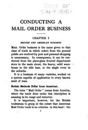 Cover of: Conducting a mail order business