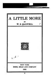 Cover of: A little more