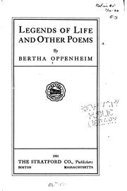 Cover of: Legends of life and other poems