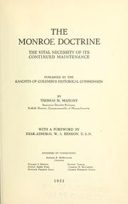 Cover of: The Monroe doctrine