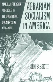 Cover of: Agrarian Socialism in America