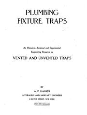 Cover of: Plumbing fixture traps