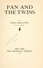Cover of: Pan And The Twins
