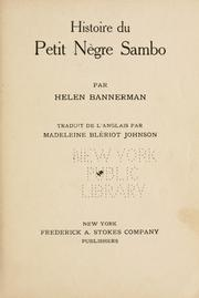 Story of Little Black Sambo by Helen Bannerman