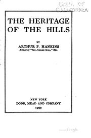 Cover of: The heritage of the hills