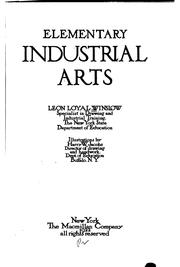 Cover of: Elementary industrial arts