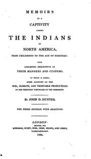 Cover of: Memoirs of a captivity among the Indians of North America