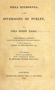 Diversions of Purley by John Horne Tooke