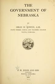 Cover of: The government of Nebraska