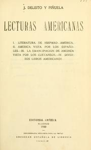 Cover of: Lecturas americanas