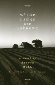 Cover of: Whose Names Are Unknown