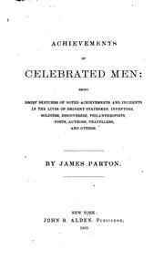 Cover of: Achievements of celebrated men ..