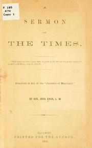 Cover of: A sermon for the times