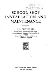 Cover of: School shop installation and maintenance