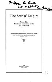 Cover of: Star of empire | Henderson, Archibald