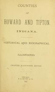 Cover of: Counties of Howard and Tipton, Indiana