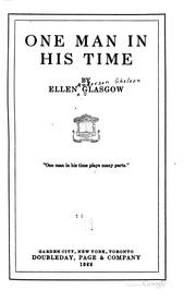 Cover of: One Man in His Time