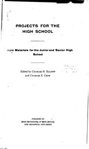 Cover of: Projects for the high school | Charles Herbert Elliot