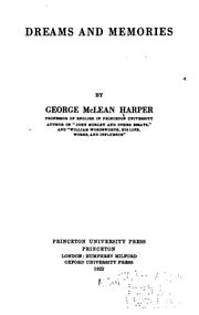 Cover of: Dreams and memories | Harper, George McLean
