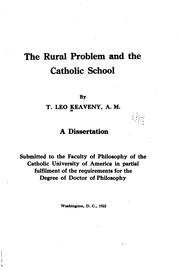 Cover of: rural problem and the Catholic school | T. Leo Keaveny