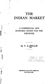 Cover of: The Indian market