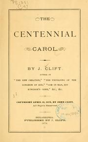 Cover of: The centennial carol