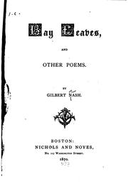 Cover of: Bay leaves