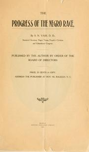 Cover of: The progress of the Negro race