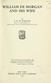 Cover of: William De Morgan and his wife | Stirling, A. M. W.