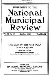 Cover of: The law of the city plan | Frank Backus Williams