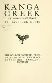 Cover of: Kanga Creek: an Australian idyll