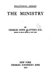 Cover of: The ministry as a life work