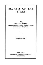 Cover of: Secrets of the stars