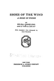 Cover of: Shoes of the wind | Hilda Conkling