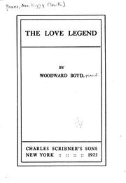 Cover of: Love legend, The