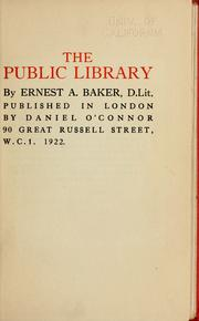 Cover of: The public library