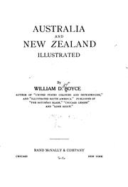 Cover of: Australia and New Zealand | William Dickson Boyce