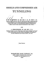 Cover of: Shield and compressed air tunneling by Bertram Henry Majendie Hewett