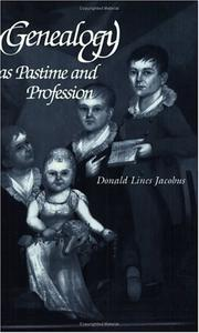 Cover of: Genealogy as Pastime and Profession | Donald Lines Jacobus