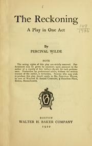 Cover of: The reckoning | Wilde, Percival
