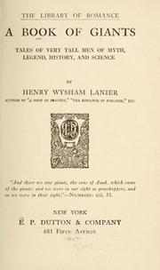 Cover of: book of giants | Henry Wysham Lanier