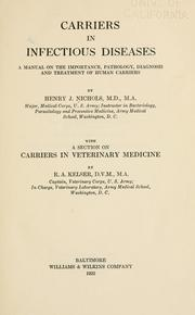 Cover of: Carriers in infectious diseases