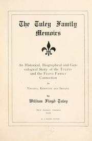 Cover of: Tuley family memoirs | William Floyd Tuley
