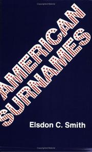 Cover of: American surnames