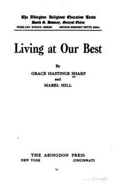 Cover of: Living at our best