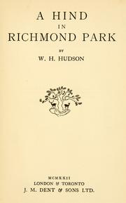 Cover of: A hind in Richmond Park