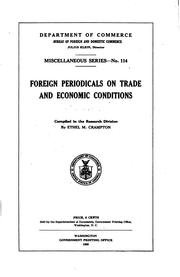 Cover of: Foreign periodicals on trade and economic conditions. | United States. Bureau of foreign and domestic commerce (Dept. of commerce)