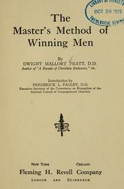 Cover of: The Master's method of winning men
